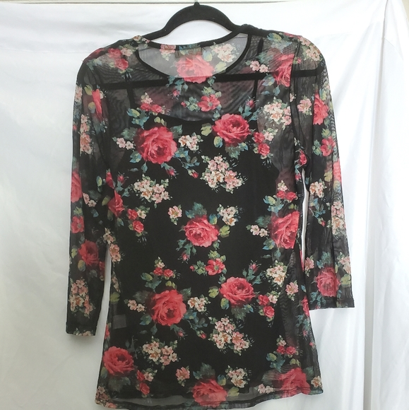Faith and Joy floral with tank top attached